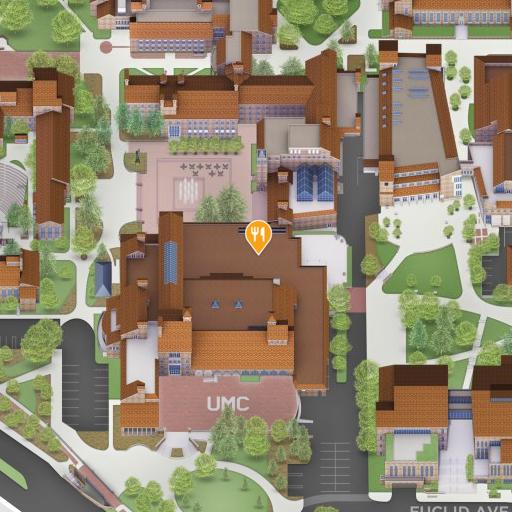 Map of CU Book Store