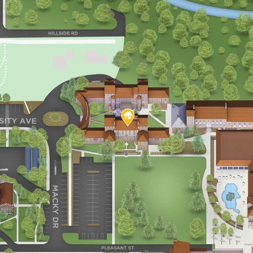 Map of Sewall Hall